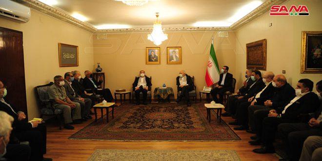ظريف خلال لقائه قادة فصائل المقاومة الفلسطينية: إيران ستواصل دعم القضية الفلسطينية