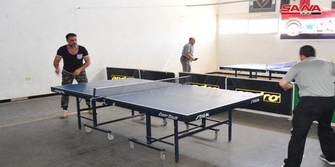 اختتام بطولة السويداء لكرة الطاولة