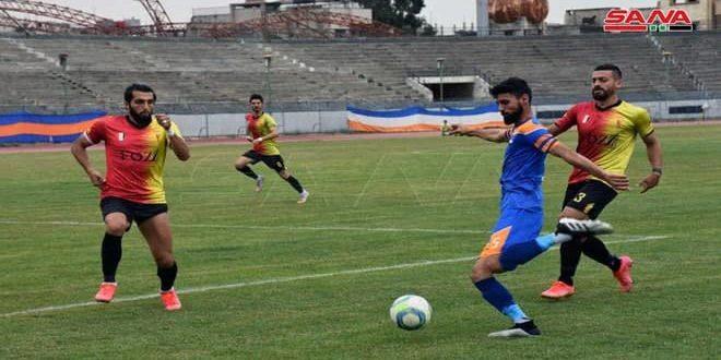 تشرين والوحدة ينهيان تحضيراتهما لبطولة كأس الاتحاد الآسيوي لكرة القدم بلقاء ودي