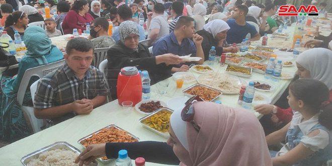 """""""سورية محبة""""… مأدبة إفطار لعدد من ذوي الإعاقة والأيتام وأسرهم"""