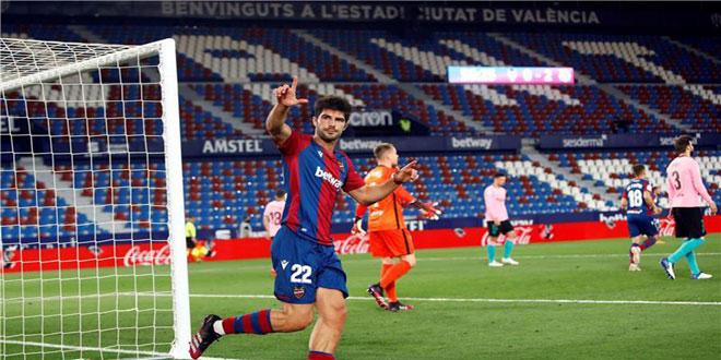 برشلونة يتعادل مع ليفانتي وآماله تتراجع في اللقب