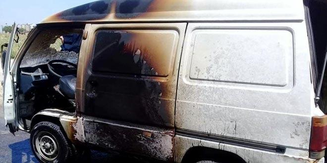 إخماد حريق اندلع في سيارة بحي مساكن الادخار في حمص