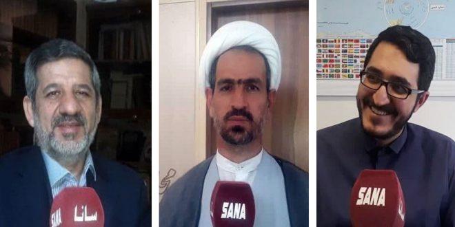 شخصيات سياسية وإعلامية إيرانية: إجراء الانتخابات الرئاسية في سورية دليل على إرادة شعبها القوية