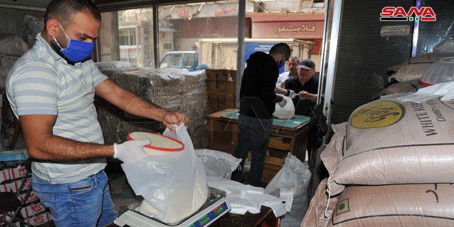 تمديد بيع مخصصات أشهر شباط وآذار ونيسان من السكر والرز عبر البطاقة الإلكترونية
