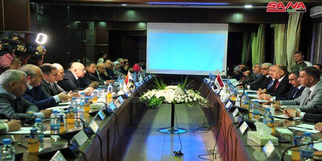 وزير الصناعة ونظيره العراقي يبحثان إقامة شراكات وتكامل صناعي بين سورية والعراق