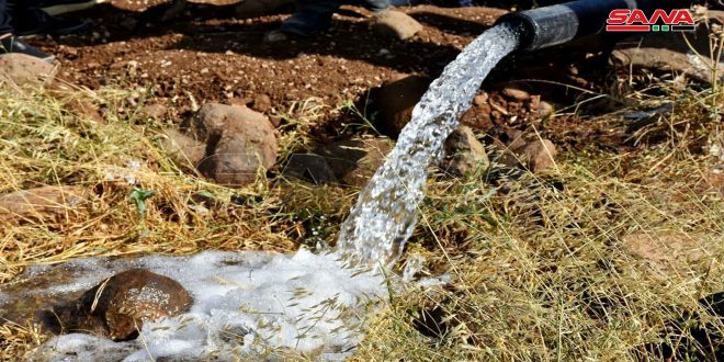 مياه حمص: وضع بئر قرية الربوة بالخدمة لدعم إرواء 14 ألف نسمة