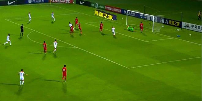 منتخب سورية لكرة القدم يخسر أمام نظيره الصيني في التصفيات المشتركة لكأس العالم وكأس آسيا