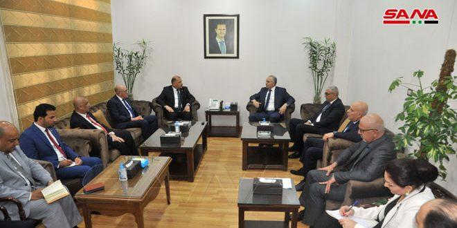 مباحثات سورية عراقية في قطاع النقل وآليات تطوير التبادل التجاري