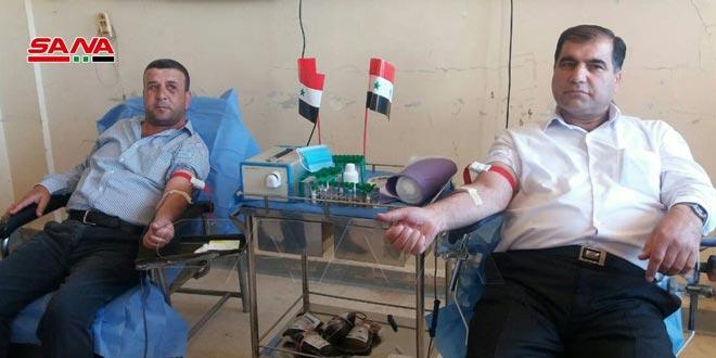 حملة تبرع بالدم بالقنيطرة دعماً لجرحى الجيش ومرضى التلاسيميا