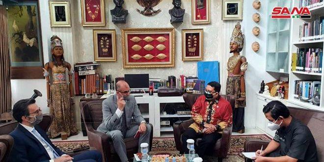 مباحثات سوريّة إندونيسية لتعزيز التعاون البرلماني