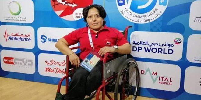 لاعبة منتخب سورية للرياضات الخاصة نورة بدور تتأهل إلى بارالمبيك طوكيو