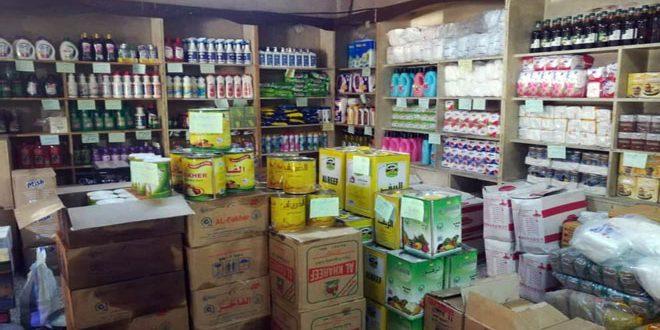 إعادة تأهيل وتنظيم آلية عرض المواد والسلع في صالات السورية للتجارة بالسويداء