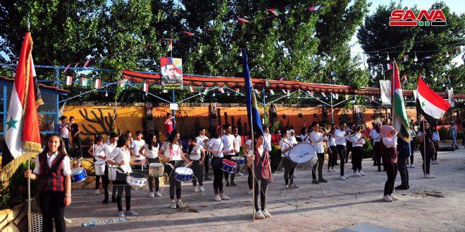 احتفالية شعبية في كفر بطنا بفوز الدكتور بشار الأسد في الانتخابات الرئاسية
