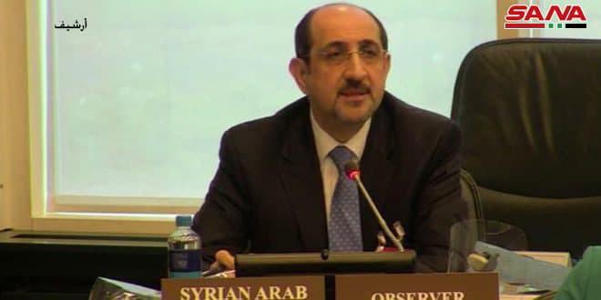 صباغ: الاعتداءات الإسرائيلية المتكررة على الأراضي السورية تكرس إرهاب الدولة