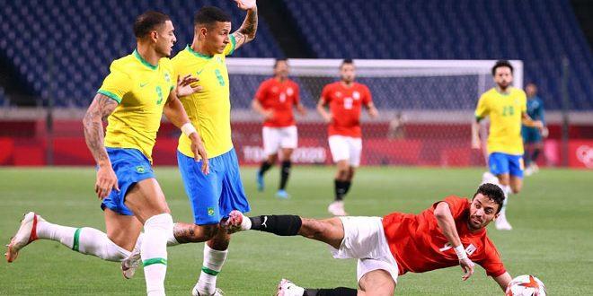 البرازيل تفوز على مصر وتتأهل إلى نصف نهائي منافسات كرة القدم في أولمبياد طوكيو