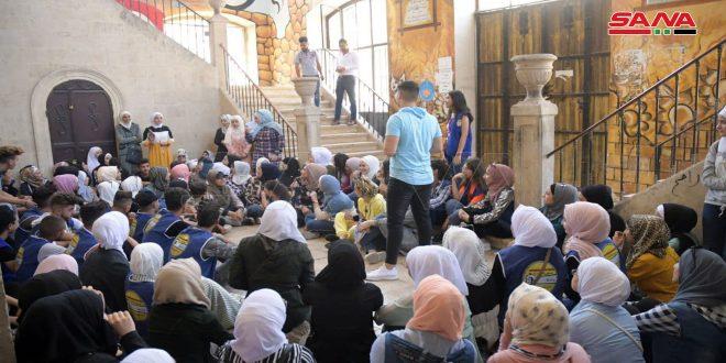 نشاطات توعوية وترفيهية منوعة ضمن المخيم الشبيبي التربوي في حلب