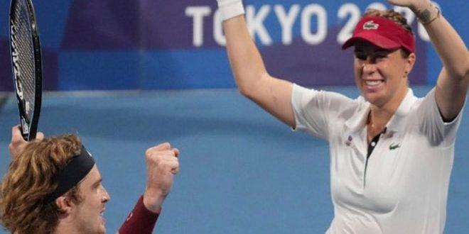 روبليف وبافليوشينكوفا يحسمان الذهبية في الزوجي المختلط للتنس ضمن أولمبياد طوكيو