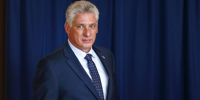 الرئيس الكوبي: وقف التدخل الخارجي بشؤون سورية واحترام سيادتها