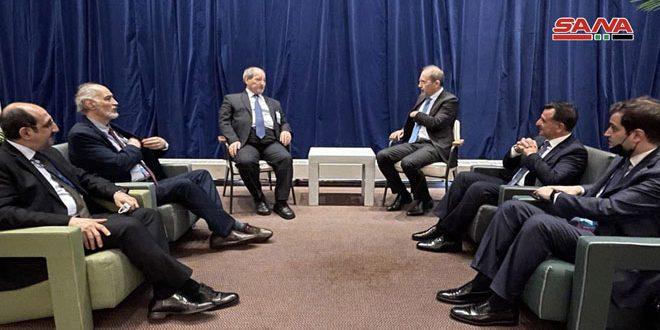 المقداد يبحث مع وزير خارجية الأردن زيادة التعاون في المجالات المختلفة وضمان أمن الحدود المشتركة