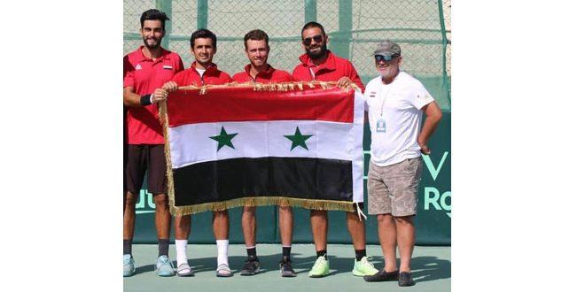 منتخب سورية لكرة المضرب يفوز على منتخب سريلانكا ويتصدر مجموعته بكأس ديفيز
