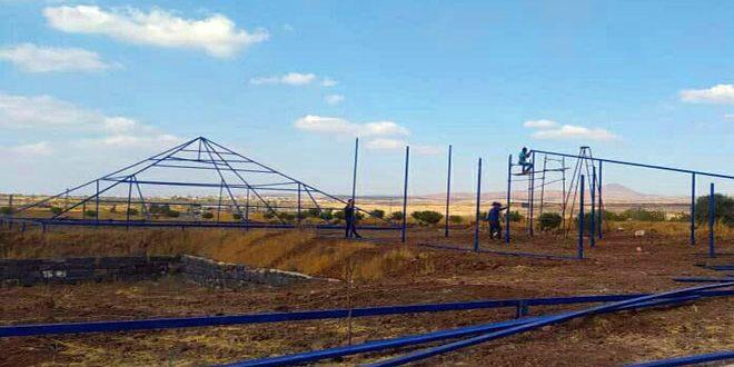 بكلفة 250 مليون ليرة… محطة توليد بالطاقة الكهروضوئية في بلدة القريا بالسويداء