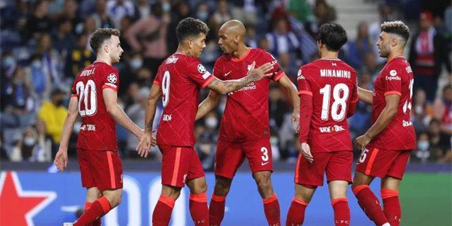 ليفربول يتصدر المجموعة الثانية بالفوز على بورتو 5-1