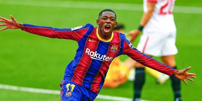 برشلونة يمهل ديمبلي شهراً واحداً لحسم مستقبله