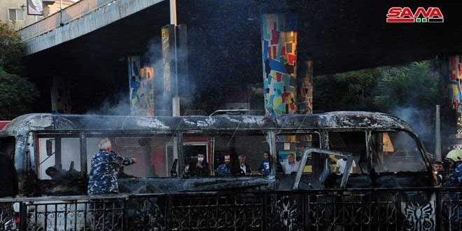 تواصل الإدانات للتفجير الإرهابي في دمشق