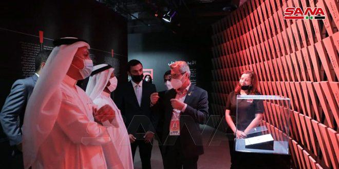 وفد إماراتي يزور جناح سورية بمعرض إكسبو دبي