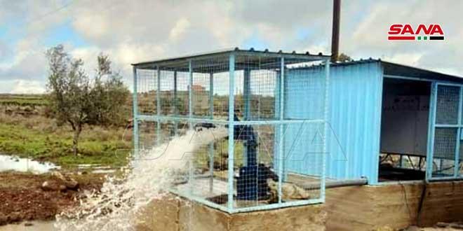 بئران جديدان لمياه الشرب بالخدمة في القنيطرة