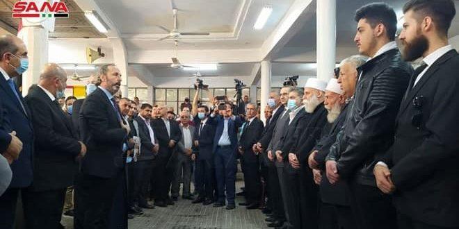 بتكليف من الرئيس الأسد… الوزير عزام يقدم التعازي باستشهاد المناضل مدحت الصالح
